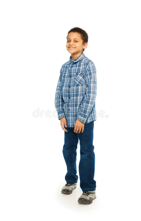 Un ritratto felice di 5 anni del ragazzo fotografia stock libera da diritti