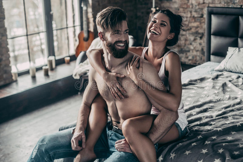 felice insieme fotografia stock