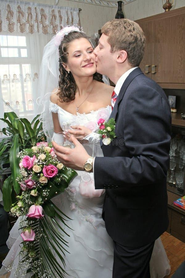 Felice sposato immagine stock