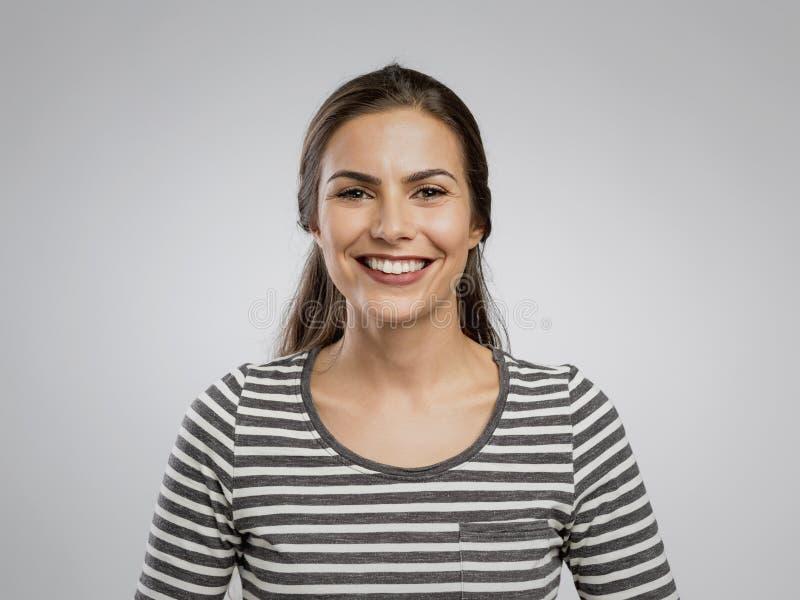 Felice viso sorridente fotografie stock libere da diritti