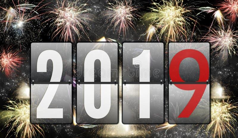 2019 Felices Año Nuevo fotos de archivo libres de regalías