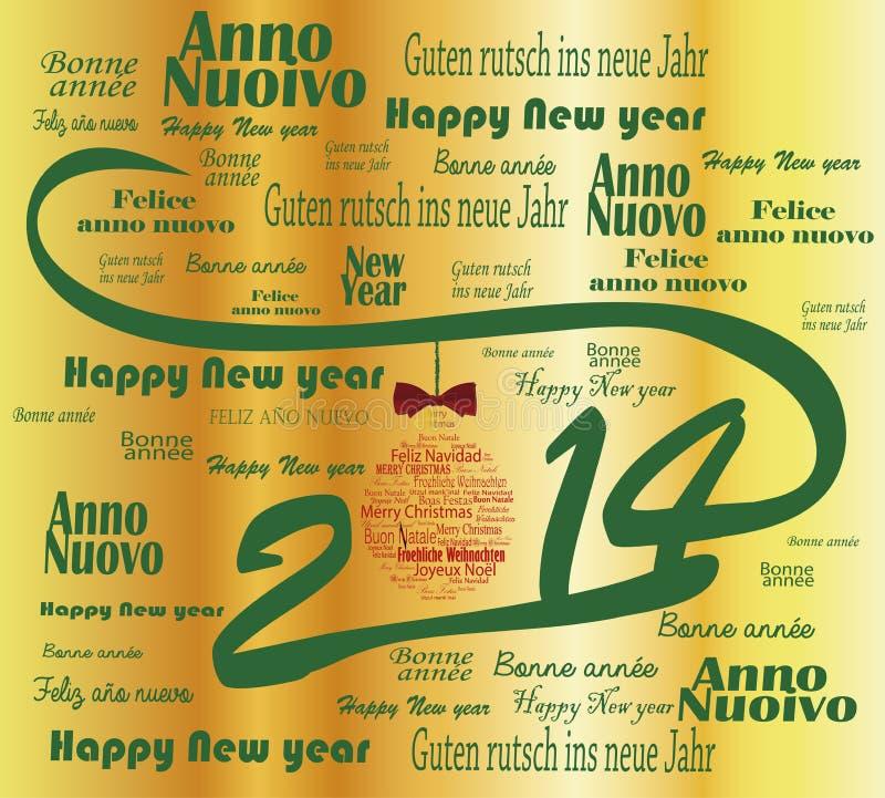 2014 Felices Año Nuevo libre illustration