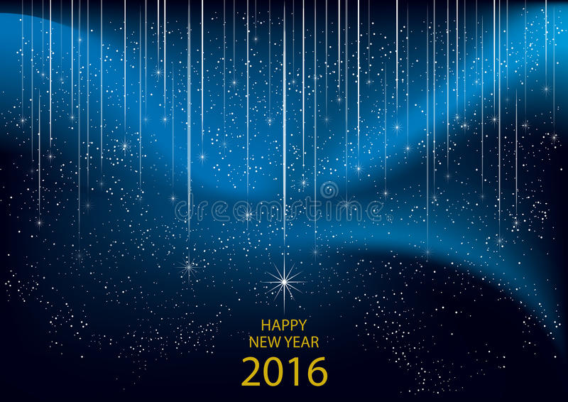 2016 Felices Año Nuevo ilustración del vector