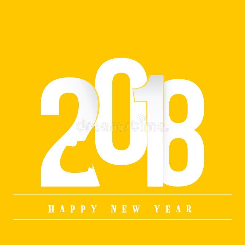 2018 Felices Año Nuevo Cartel del año del perro amarillo, para su diseño ilustración del vector