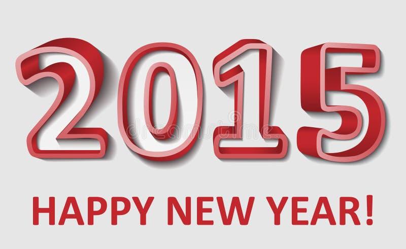 2015 Felices Año Nuevo, ejemplo del vector stock de ilustración