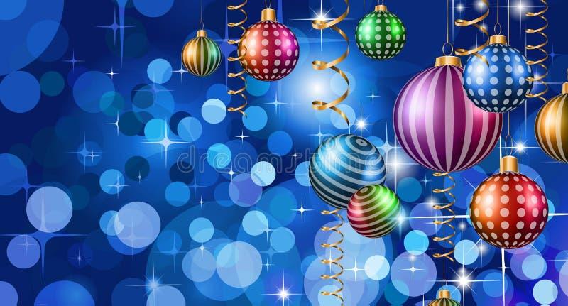 2016 Felices Año Nuevo y fondo de la Feliz Navidad libre illustration