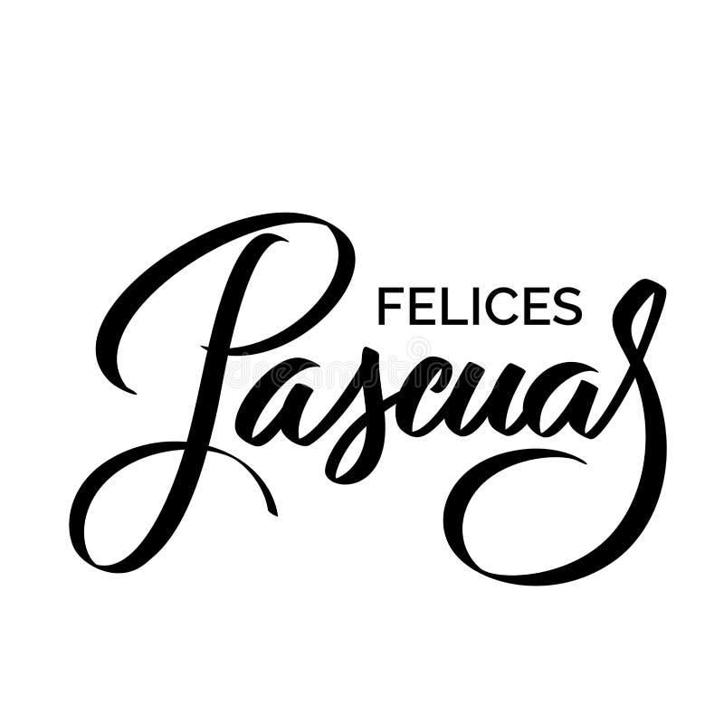 Felices Pascuas - cumprimentos da Páscoa em espanhol ilustração royalty free