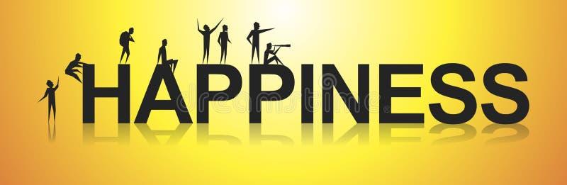felicidad stock de ilustración