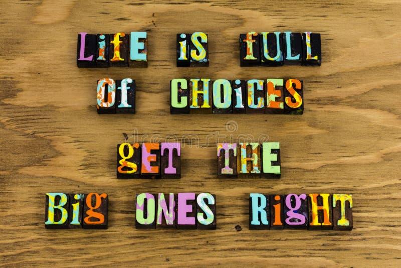 Felicidad bien escogida de la balanza de la forma de vida de la vida imágenes de archivo libres de regalías