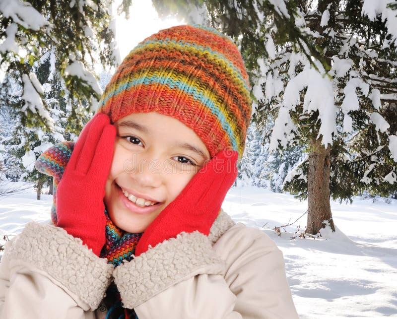 Felicidad del invierno fotos de archivo
