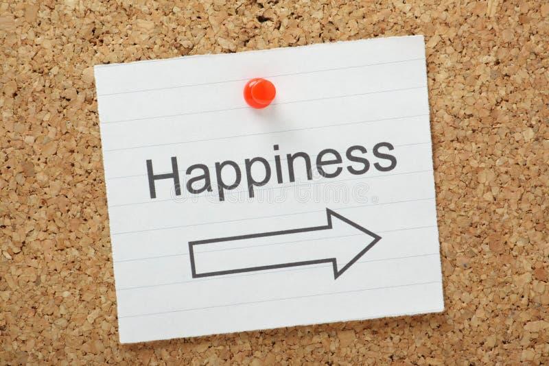 Felicidad esta manera foto de archivo