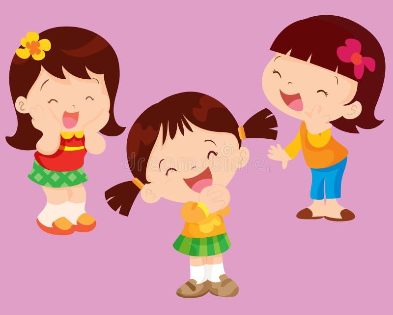 Felicidad linda de la muchacha stock de ilustración