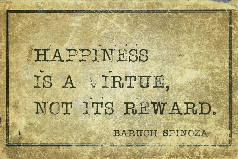A felicidade é Spinoza foto de stock royalty free