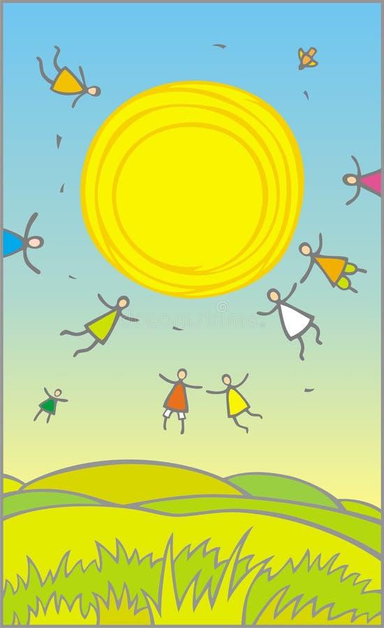 Felicidade ilustração do vetor