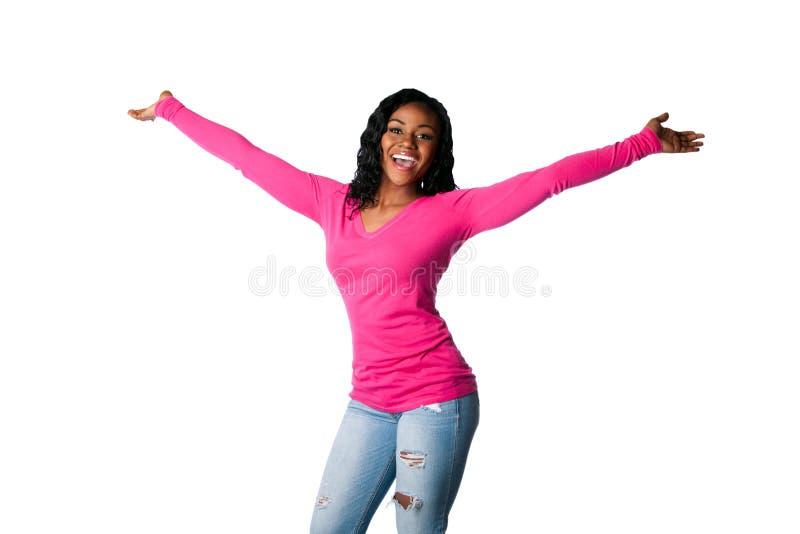 Felicidade com braços abertos imagens de stock royalty free