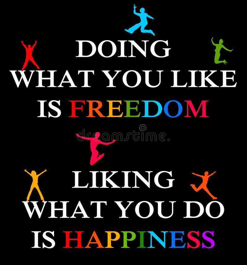 Felicidade da liberdade ilustração do vetor