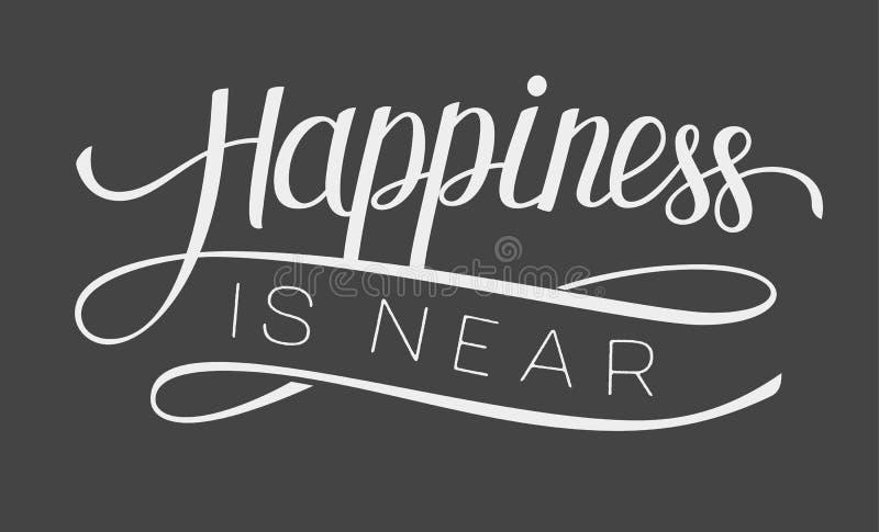 A felicidade da rotulação está próximo ilustração royalty free