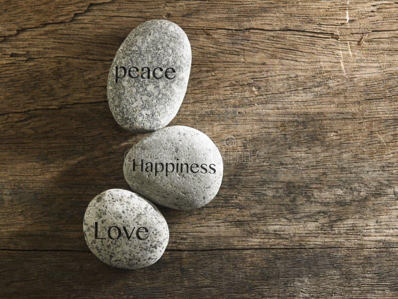 Felicidade do amor da paz foto de stock