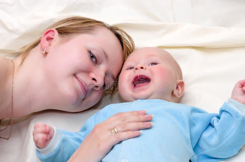 Felicidade materna imagens de stock