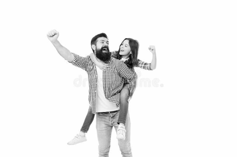 Felicidade sendo pai da menina Celebração de Férias Lazer ativo Dia dos Pais Pai, exemplo nobre humano Pai imagem de stock royalty free