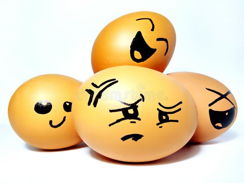 Felicità dell'uovo fotografia stock
