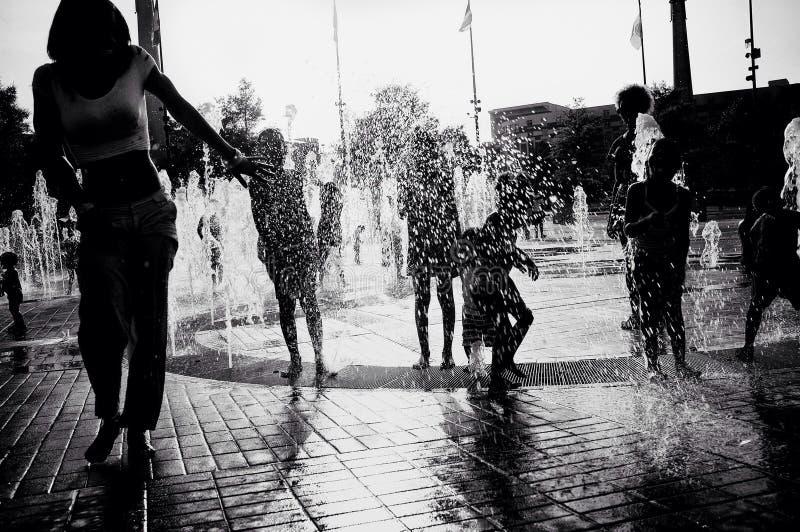 Felicità della fontana immagine stock libera da diritti