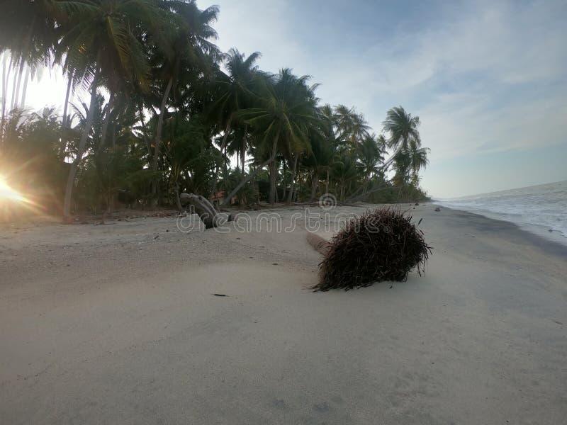 Felicità della spiaggia in Tailandia del sud fotografie stock