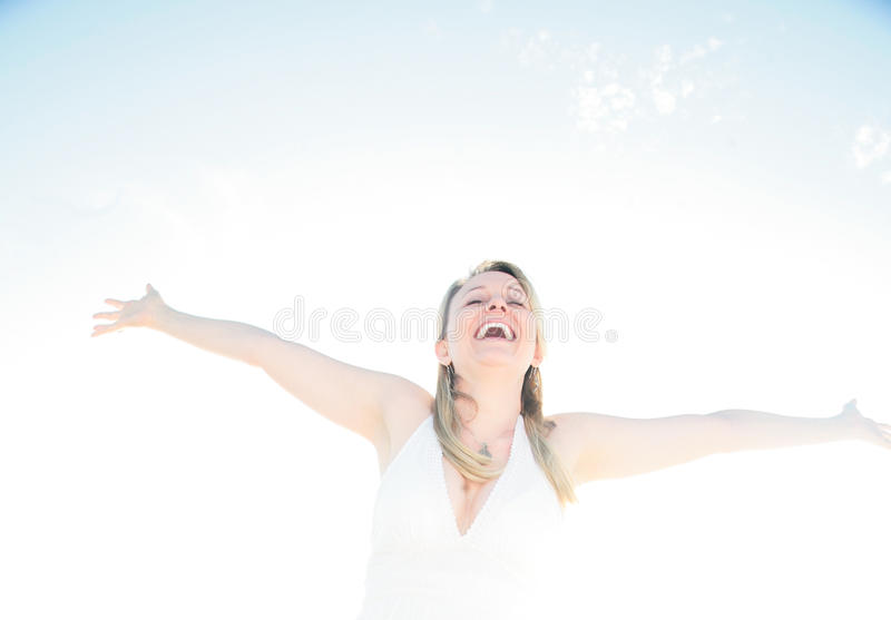 Felicità, successo, o spiritualità fotografia stock libera da diritti