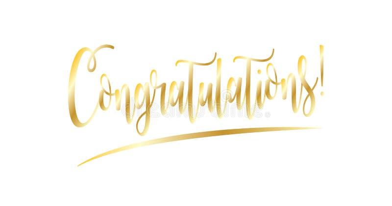 Felicitações ilustração stock