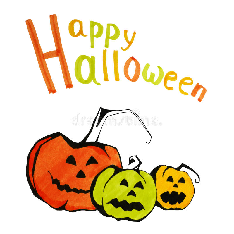 Felicitações de Halloween ilustração royalty free