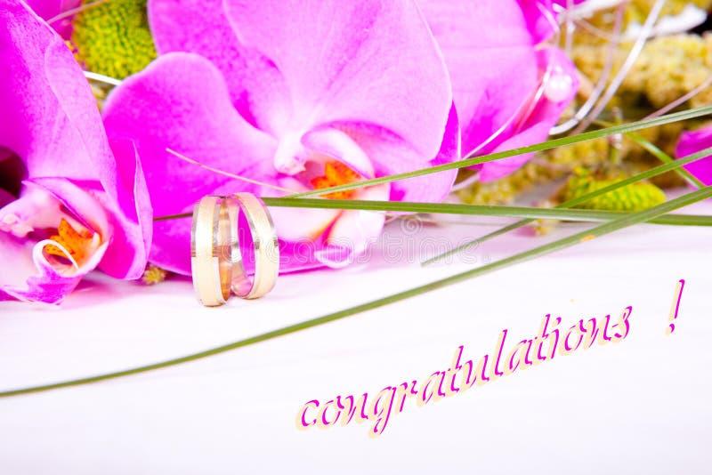 Felicitações do casamento fotos de stock