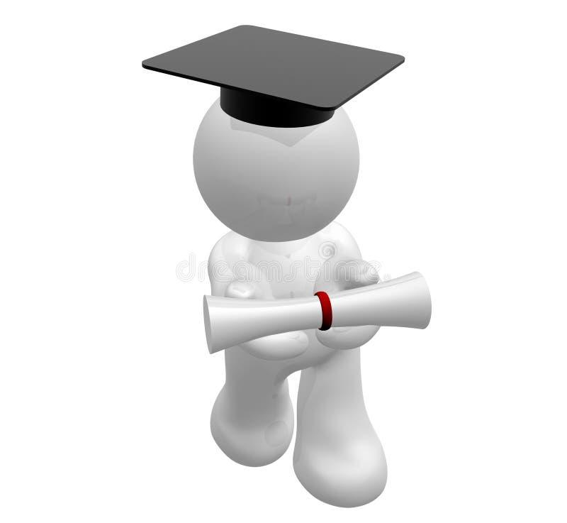 Felicitações em sua graduação ilustração royalty free