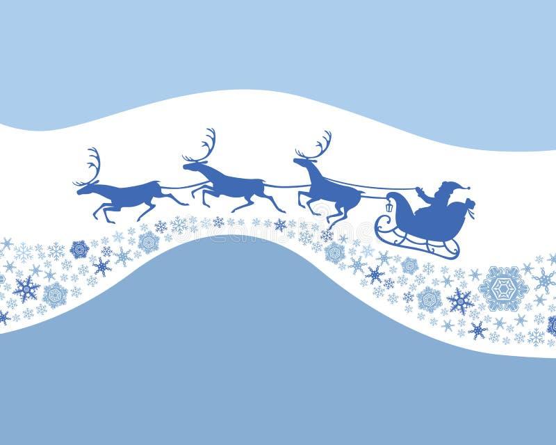 Felicitatiekaart met Santa Claus royalty-vrije illustratie