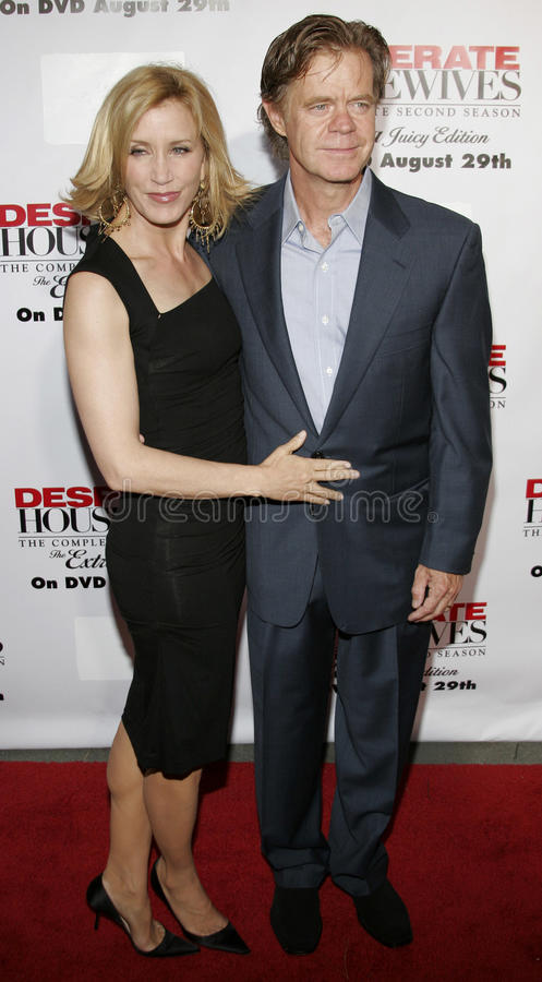 Felicity Huffman e estrelas de William H macy fotografia de stock