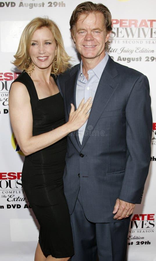 Felicity Huffman e estrelas de William H macy imagens de stock royalty free