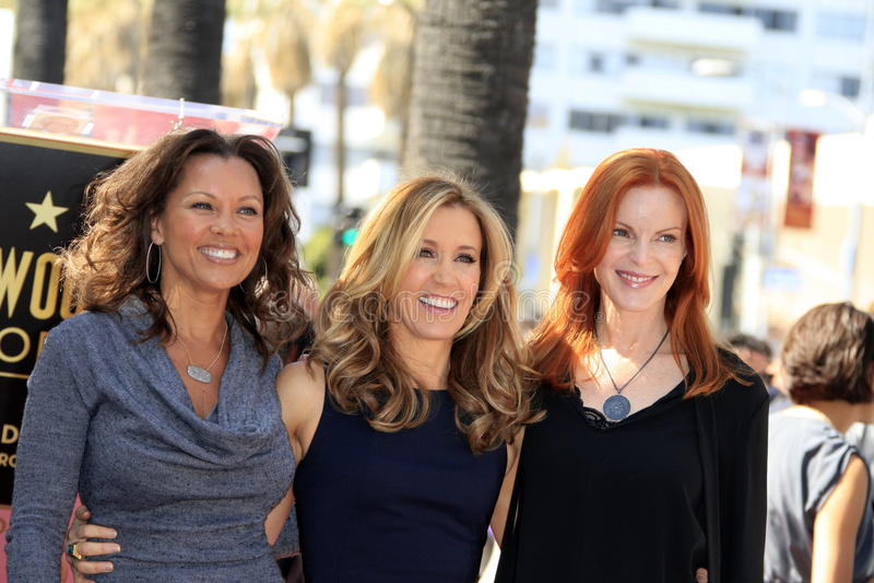 Felicity Huffman, Marcia Cross, Vanessa Williams, William H Macy fotos de stock