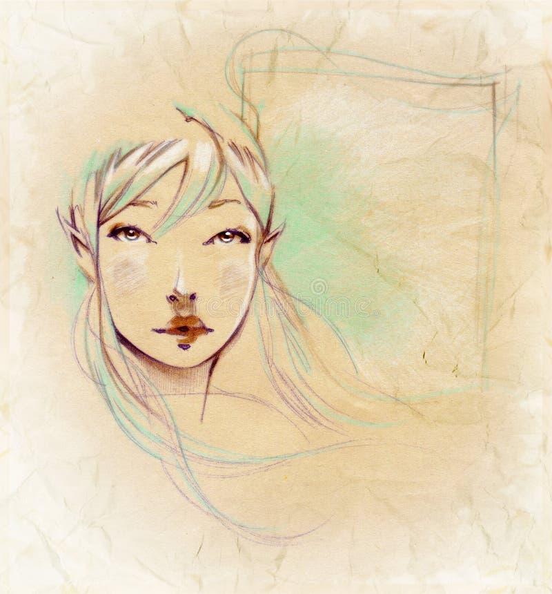 felik flicka royaltyfri illustrationer