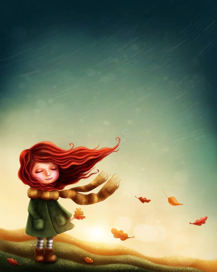 felik flicka little royaltyfri illustrationer