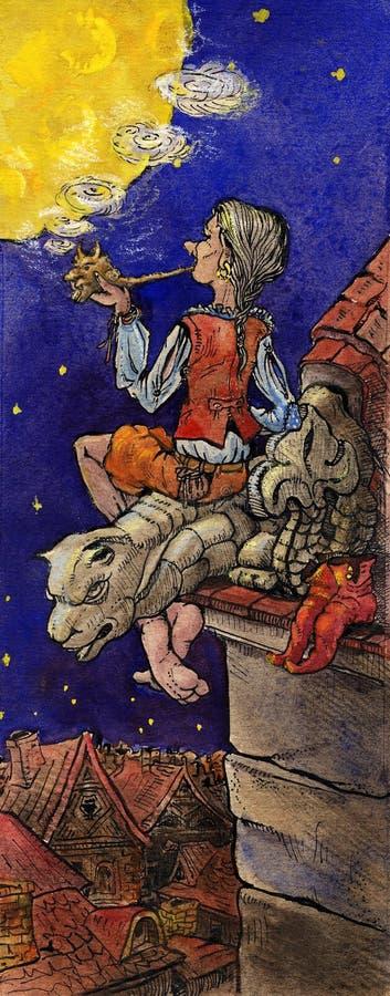 felik illustrationberättelsesaga royaltyfri illustrationer