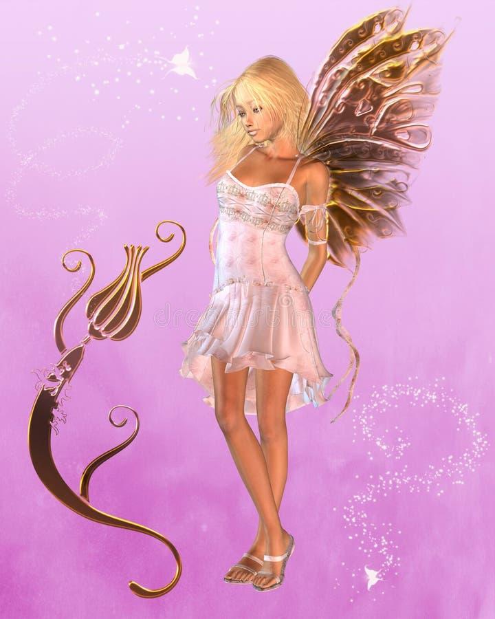 felik magical pink för bakgrund royaltyfri illustrationer