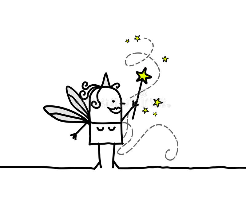 felik magisk wand vektor illustrationer