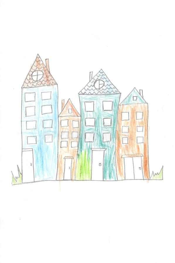 Felika färgrika hus vektor illustrationer