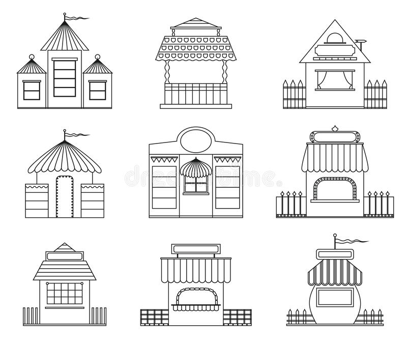 felika hus vektor illustrationer