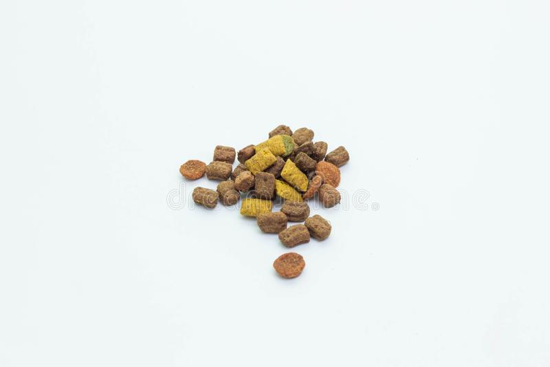 Feline cat food brown. Granules royalty free stock photos