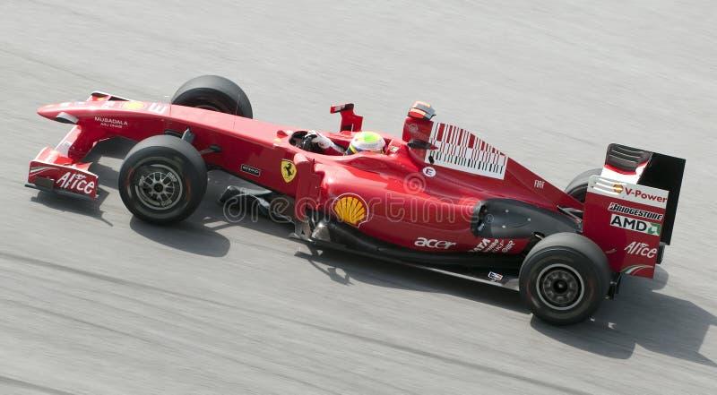 Felipe 2009 Massa no Malaysian F1 Prix grande imagem de stock