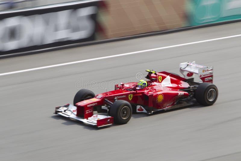Felipe Massa abajo de la cañería derecho fotos de archivo libres de regalías