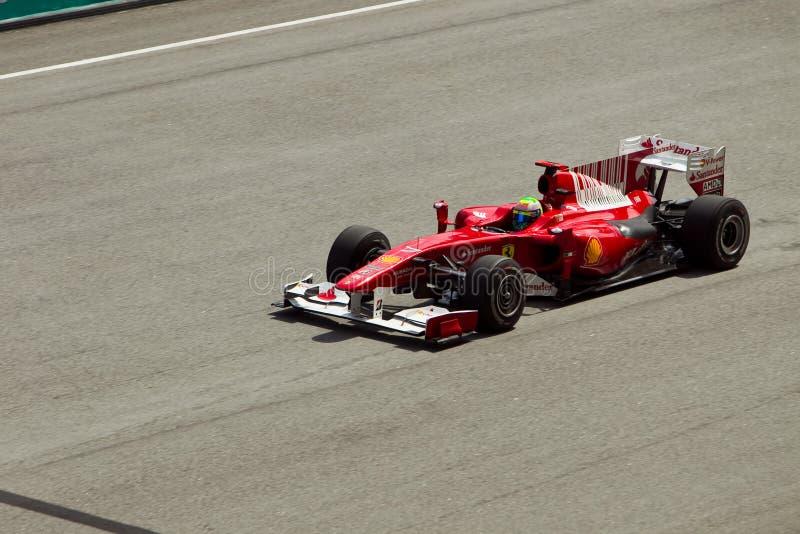 Felipe Massa en la raza de fórmula 1 malasia imagen de archivo