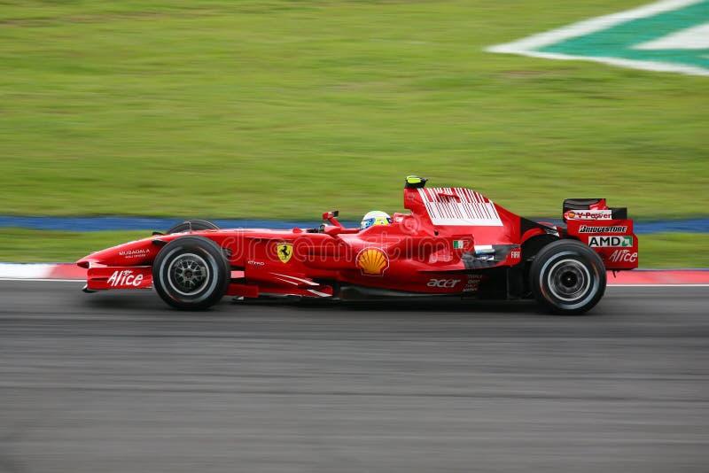 Felipe Massa, Scuderia Ferrari Malboro F1 Team lizenzfreie stockfotos