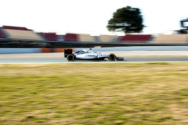 FELIPE MASSA (WILLIAMS) - TEST F1 lizenzfreie stockbilder