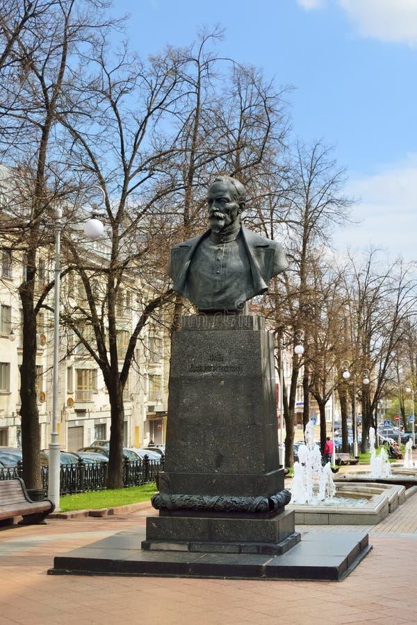 Felix Dzerzhinsky monument i Minsk, Vitryssland royaltyfria foton